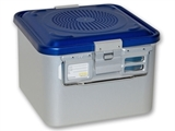 Show details for CONTAINER WITH FILTER small h 200 mm - blue - perforated 1pcs