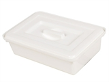 Show details for INSTRUMENT TRAY WITH COVER 220x150x70 mm - plastic 1pcs