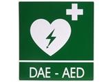 Show details for DAE-AED ALUMINIUM SIGN 34x36 cm for defibrillators