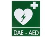 Show details for  DAE-AED ALUMINIUM SIGN 25x31 cm for defibrillators
