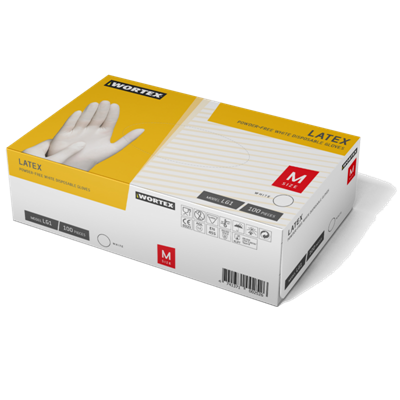 Picture of Latex gloves, without powder, L, N100