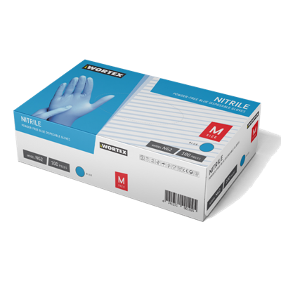 Picture of Nitrile gloves, without powder N100 M