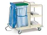 Show details for LAUNDRY TROLLEY - painted steel, 1 pc.