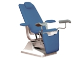 Show details for GYNEX BED CHAIR with roll holder - light blue, 1 pc.