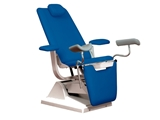 Show details for GYNEX BED CHAIR with roll holder - blue, 1 pc.