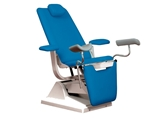 Show details for GYNEX BED CHAIR with roll holder - metal sea blue, 1 pc.