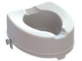 Show details for RAISED TOILET SEAT with fixing system - height 14 cm, 1 pc.