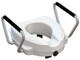 Show details for RAISED TOILET SEAT with fixed armrest - height 12,5 cm, 1 pc.
