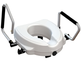 Show details for RAISED TOILET SEAT with reclining armrest - height 12,5 cm, 1 pc.