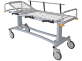 Show details for PROFESSIONAL PATIENT TROLLEY with side rails and oxygen cylinder holder, 1 pc.