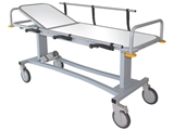 Show details for PROFESSIONAL RX PATIENT TROLLEY with side rails and oxygen cylinder holder, 1 pc.