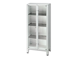Show details for VALUE CABINET - 2 doors - tempered glass, 1 pc.
