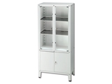 Show details for VALUE CABINET - 4 hinged doors - tempered glass, 1 pc.