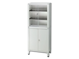 Show details for VALUE CABINET - 4 doors - tempered glass, 1 pc.