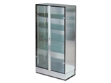 Show details for GLASS-INOX CABINET, 1 pc.