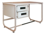 Show details for DESK 130x71 cm - with two drawers, 1 pc.