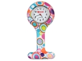 Show details for SILICONE NURSE WATCH - round - bubbles