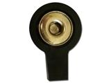 Vairāk informācijas par Saspraudes adapteri, 2 mm - melni 10 gab.