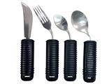 Показать информацию о Набор изгибаемой посуды (вилка, нож, маленькая и большая ложка) набор из 4