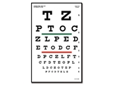 Show details for SNELLEN OPTOMETRIC CHART - 6 m - 23x35.5 cm, 1 pc.