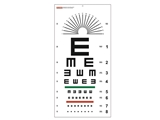 "Show details for TUMBLING ""E"" OPTOMETRIC CHART - 6 m - 28x56 cm, 1 pc."