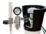 Show details for PRESSURE REDUCER with flowmeter and humidif. - NF (BULLNOSE)