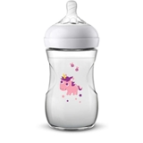 Show details for NATURAL BABY BOTTLE 260 ML, SLOW FLOW PACIFIER 1M + UNICORN