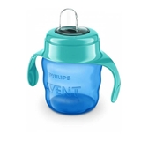 Show details for EASY SIP TRAINIG CUP WITH HANDLES, 6M+, 200 ML, SILICONE ATTACHMENT, GREEN/BLUE