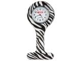 Показать информацию о Силиконовые часы для медсестры - круглые - зебра, 1 шт.