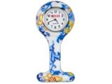 Показать информацию о Силиконовые часы для медсестры - круглые - листочки, 1 шт.