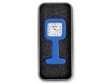 Показать информацию о Силиконовые часы для медсестры в алюминиевой коробке - квадрат - синие, 1 шт.