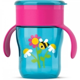 Show details for PHILIPS AVENT MUG WITH 360 DRINKING POSSIBILITY 9M +, turquoise WITH PINK