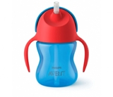 Show details for Philips Avent bottle with elastic straw, 200 ml, 9M +, blue