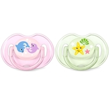 Show details for Philips Avent Classic pacifier 2 psc. Girls 0-6 M